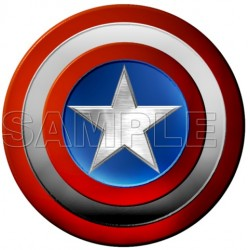 Captain America Logo T Shirt Iron on Transfer Decal #2