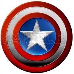 Captain America Logo T Shirt Iron on Transfer Decal #2