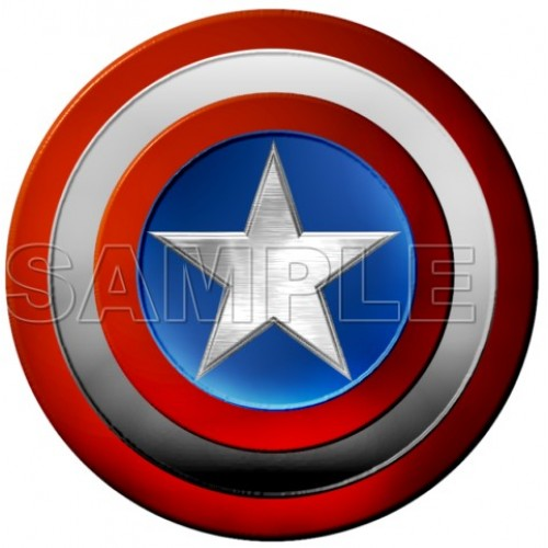 Captain America Logo T Shirt Iron on Transfer Decal #2 by www.shopironons.com