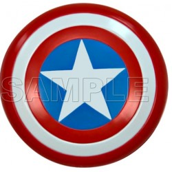 Captain America Logo T Shirt Iron on Transfer Decal #3