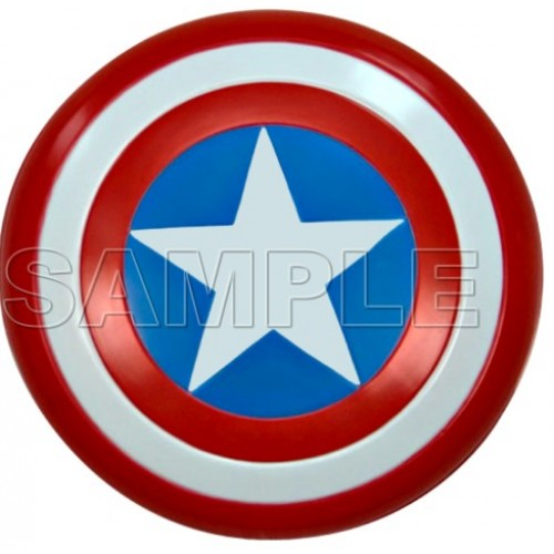 Captain America Logo T Shirt Iron on Transfer Decal #3 by www.shopironons.com