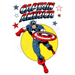 Captain America T Shirt Iron on Transfer Decal #66