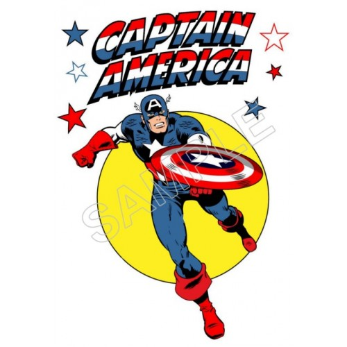 Captain America T Shirt Iron on Transfer Decal #66 by www.shopironons.com