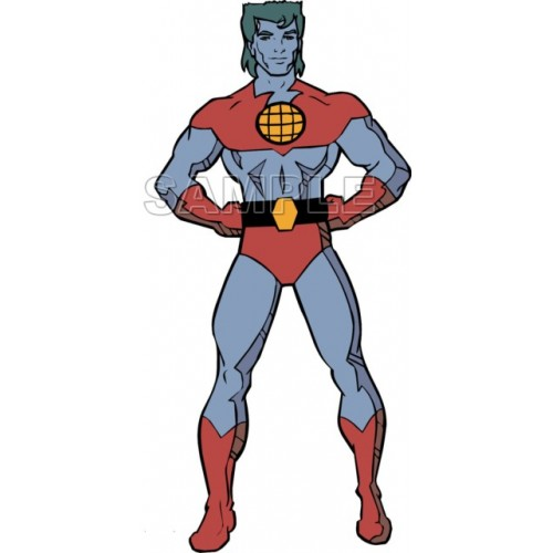 Captain Planet T Shirt Iron on Transfer Decal #1 by www.shopironons.com