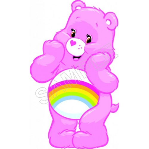 Care Bears Rainbow T Shirt Iron on Transfer Decal #2 by www.shopironons.com
