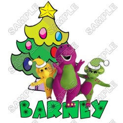 Christmas Barney T Shirt Iron on Transfer Decal #42