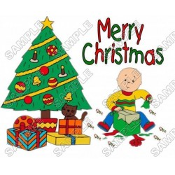 Christmas Caillou T Shirt Iron on Transfer Decal #44