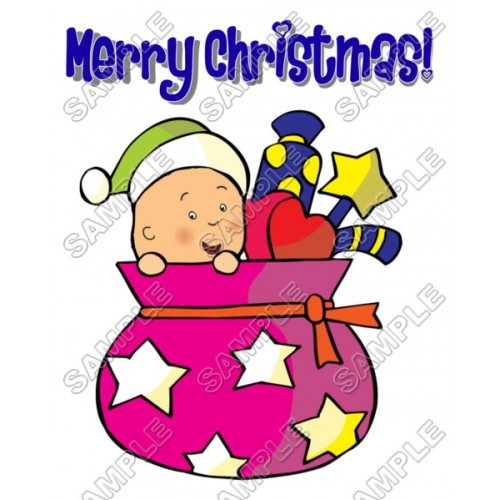 Christmas Caillou T Shirt Iron on Transfer Decal #74 by www.shopironons.com