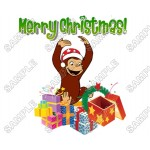 Christmas Curious George T Shirt Iron on Transfer Decal #81 by www.shopironons.com