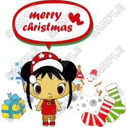 Christmas Ni Hao Kai - lan T Shirt Iron on Transfer Decal #79