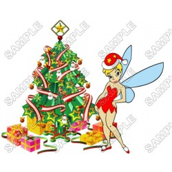 Christmas TinkerBell T Shirt Iron on Transfer Decal #80