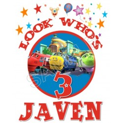 Chuggington Birthday Personalized Custom T Shirt Iron on Transfer Decal #84