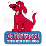Clifford the Big Red Dog T Shirt Iron on Transfer Decal #2 by www.shopironons.com