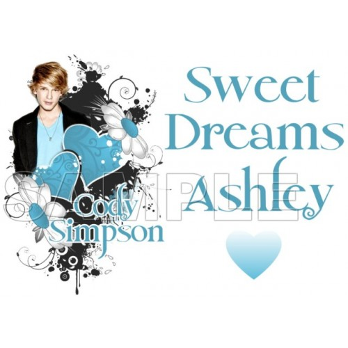 Cody Simpson Personalized Custom T Shirt Iron on Transfer Decal #3 by www.shopironons.com