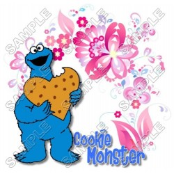 Cookie Monster Sesame street T Shirt Iron on Transfer Decal #12