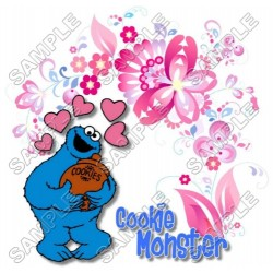 Cookie Monster Sesame street T Shirt Iron on Transfer Decal #13