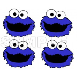 Cookie Monster T Shirt Iron on Transfer Decal #1
