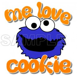 Cookie Monster T Shirt Iron on Transfer Decal #3