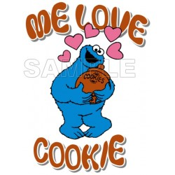 Cookie Monster T Shirt Iron on Transfer Decal #4