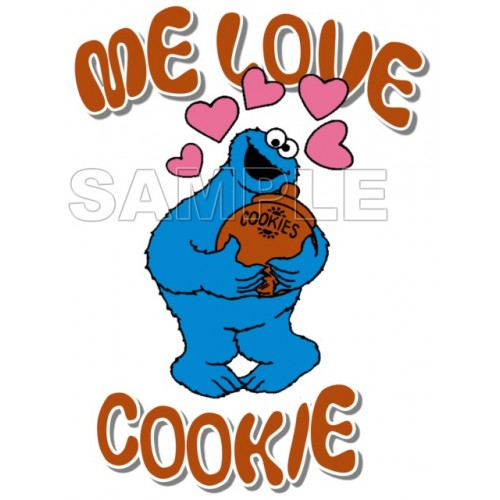 Cookie Monster T Shirt Iron on Transfer Decal #4 by www.shopironons.com