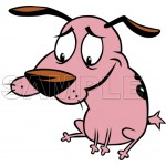 Courage Cowardly Dog T Shirt Iron on Transfer Decal #3 by www.shopironons.com