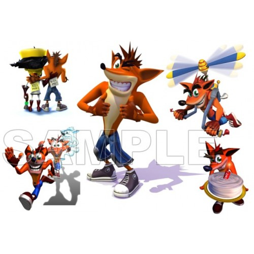 Crash Bandicoot T Shirt Iron on Transfer Decal #1 by www.shopironons.com