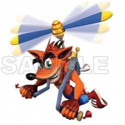 Crash Bandicoot T Shirt Iron on Transfer Decal #4