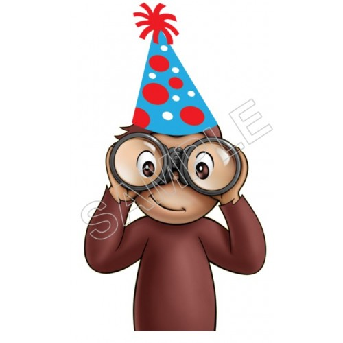 Curious George Birthday T Shirt Iron on Transfer Decal #57 by www.shopironons.com