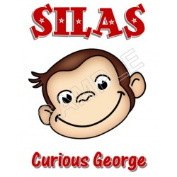 Curious George Personalized Custom T Shirt Iron on Transfer Decal #59