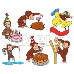 Curious George T Shirt Iron on Transfer Decal #4