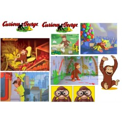 Curious George T Shirt Iron on Transfer Decal #5