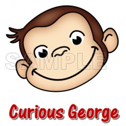 Curious George T Shirt Iron on Transfer Decal #6