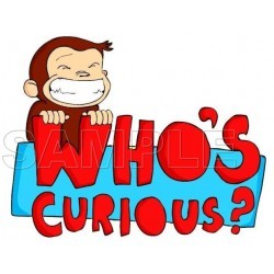 Curious George T Shirt Iron on Transfer Decal #9