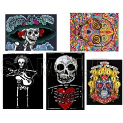 Day of the Dead Día de Muertos Skull T Shirt Iron on Transfer Decal #1