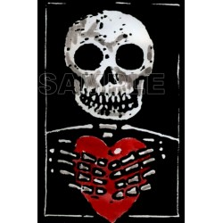 Day of the Dead Día de Muertos Skull T Shirt Iron on Transfer Decal #5