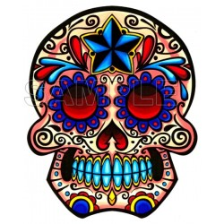 Day of the Dead Día de Muertos Skull T Shirt Iron on Transfer Decal #7