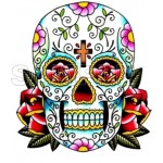 Day of the Dead Día de Muertos Skull T Shirt Iron on Transfer Decal #8 by www.shopironons.com