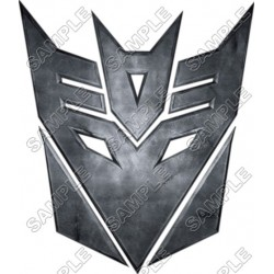 Decepticon Logo Transformers T Shirt Iron on Transfer Decal #9