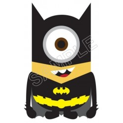 Despicable Me Minion Batman T Shirt Iron on Transfer Decal #57
