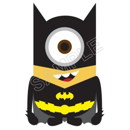 Despicable Me Minion Batman T Shirt Iron on Transfer Decal #57 by www.shopironons.com