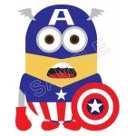 Despicable Me Minion Captain America T Shirt Iron on Transfer Decal #52 by www.shopironons.com