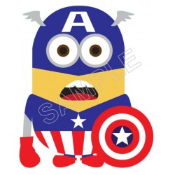 Despicable Me Minion Captain America T Shirt Iron on Transfer Decal #52