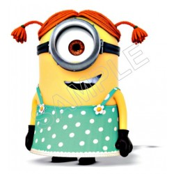 Despicable Me Minion Girl T Shirt Iron on Transfer Decal #96