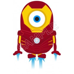 Despicable Me Minion Iron Man T Shirt Iron on Transfer Decal #56