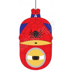 Despicable Me Minion Spider Man T Shirt Iron on Transfer Decal #23