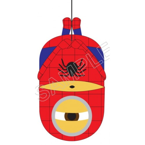 Despicable Me Minion Spider Man T Shirt Iron on Transfer Decal #23 by www.shopironons.com