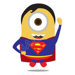 Despicable Me Minion SuperMan T Shirt Iron on Transfer Decal #58