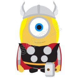 Despicable Me Minion Thor T Shirt Iron on Transfer Decal #54