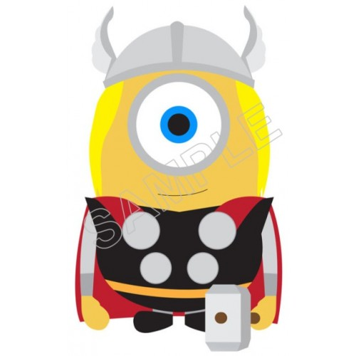 Despicable Me Minion Thor T Shirt Iron on Transfer Decal #54 by www.shopironons.com