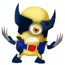 Despicable Me Minion Wolverine T Shirt Iron on Transfer Decal #51